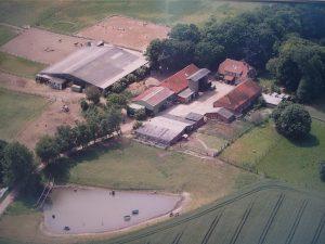 Luftbild des Reiterhofs Augustenhof